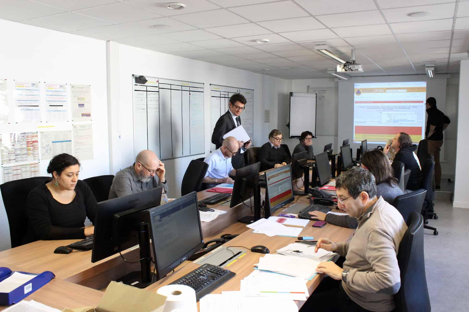 exercice à l'ARS en lien avec le COD organisé en préfecture