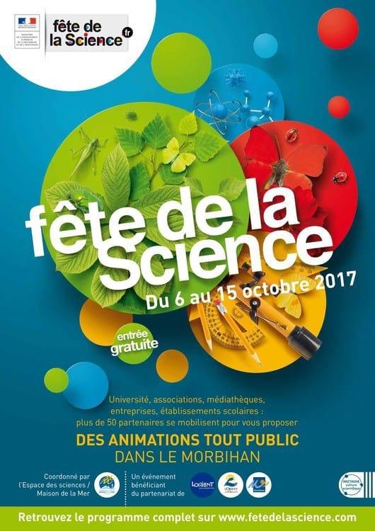 Affiche de la fête de la science du 6 au 15 octobre 2017